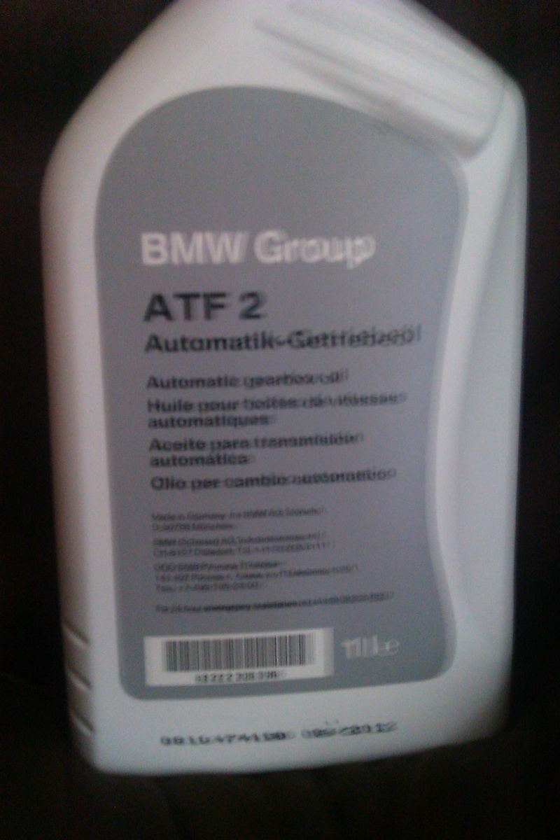 Huile boite automatique bmw
