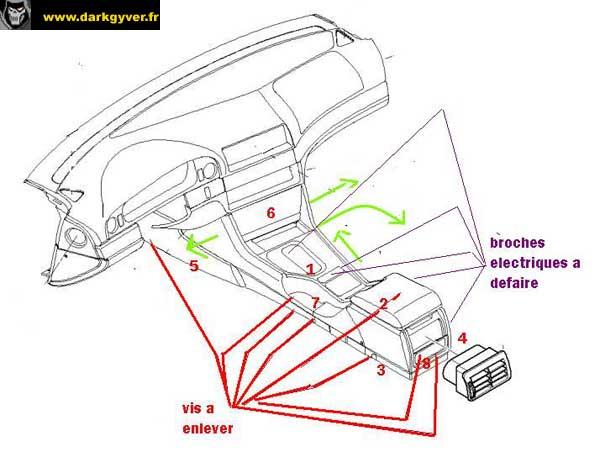 Rta bmw de darkgyver d montage remontage console - Comment demonter console centrale golf ...