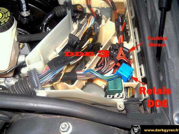Affiche Fiche Technique 1256 1256 Localisation Module Dde3 M47 E46on Bmw E46 Fuel Pump Relay Location